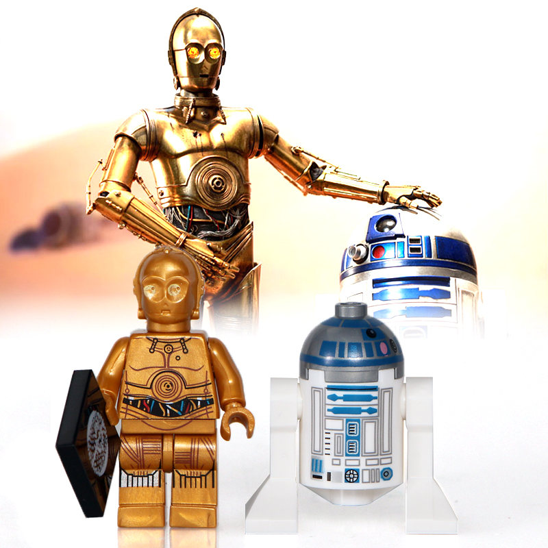 2pcs/lot Star Wars Robot Double Sale R2-d2 Stormtrooper Figures Building Blocks Models Bricks Kits Toys For Children Pg659 Xh332 Harmonious Colors Model Building Blocks
