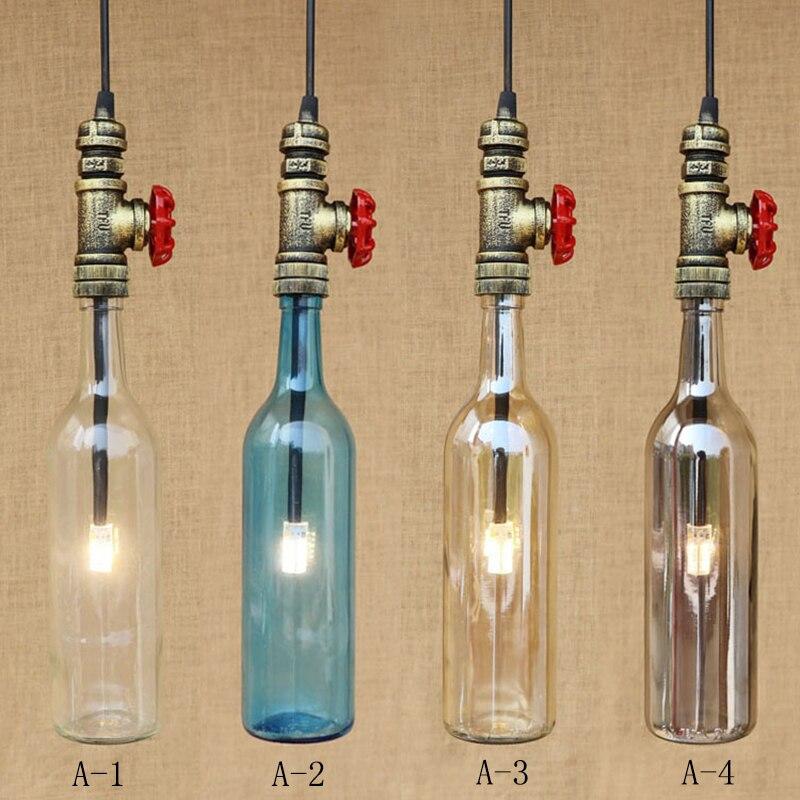 RETRO Industriellen Lampen Vintage Glasflaschen Schatten ...