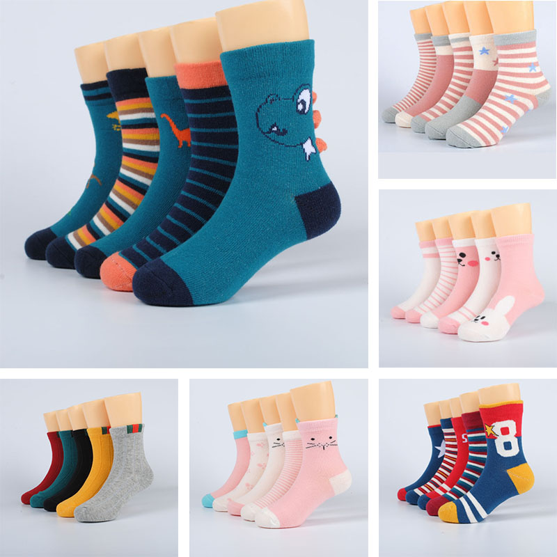 5 Pairs Baby Girls Socks Spring Summer Cotton Newborn Baby Socks Baby Meias Para Bebe Kids Socks For Children Boys Socks 1-12Y