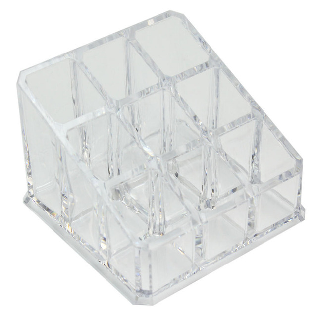 1pc 9 Grids Clear Acrylic Cosmetic Organiser Jewelry Makeup