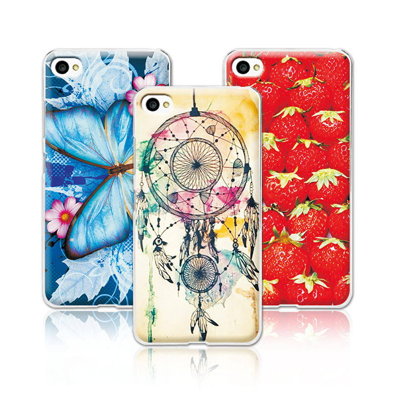 Women Girls Beautiful Floral Painting Case For Lenovo S90, Colorful Flowers Skin Back Cover For Lenovo S90 +Pen Gift