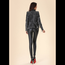 High Quality Leather Leggings with Buttons