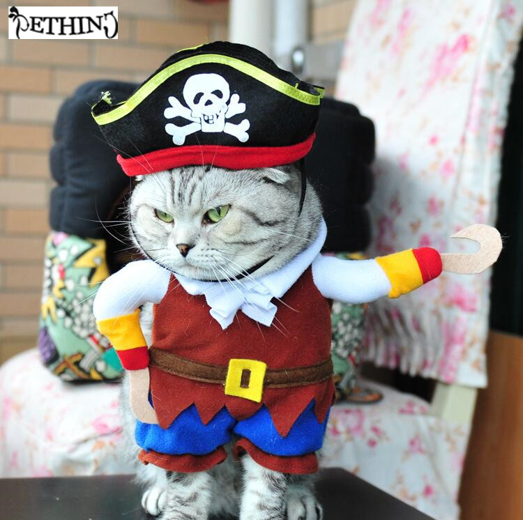 pirate style dog costume for party jumpsuits small dog large dog pet cat funny golden retriever. Black Bedroom Furniture Sets. Home Design Ideas