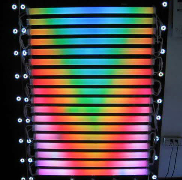 Us 679 91 23 Off External Control Rgb Led Digital Smd5050 Outdoor Light Dmx512 Dc12v 12w M Guardrail Lamp Hurdle In