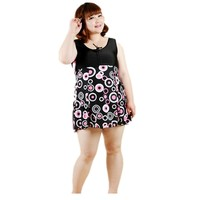 Hoge kwaliteit Sexy Plus Size Badmode Vrouwen Eendelig Badpak grote vrouwen Grote Size Monokini Badpak Bloemenprint 8XL Strand dragen