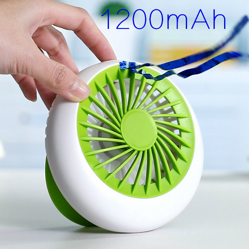 2017 Mini Fan Rechargeable Fan Office USB electric air conditioner USB Portable Desk small fan battery natural wind 1200mA