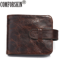 COMFORSKIN Carteira Masculina Vintage Cowhide Oil Waxing Leather Business Men Wallets Brand Designer Male Purse 2018 Hot Sales
