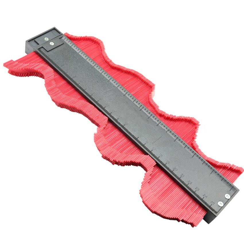 Plastic Profiel Kopie Gauge Contour Gauge Duplicator 250mm Hout Gebogen Heerser Met Magneet Betegelen Laminaat Tegels Algemene Hulpmiddelen Uitstekende Kwaliteit