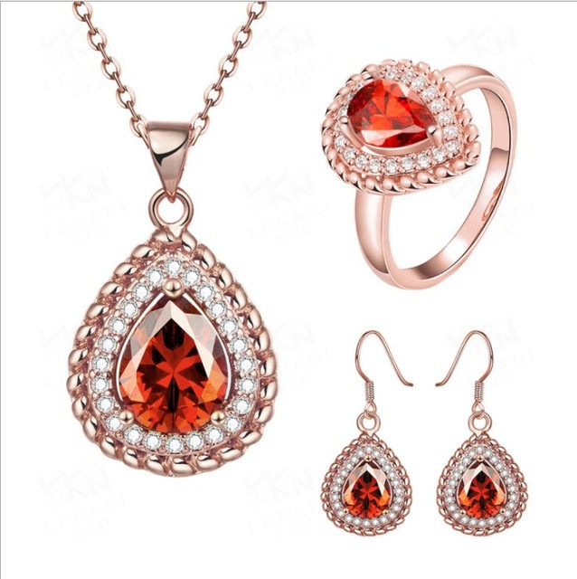 713ab5eda6 Wholesale Crystal From Austrian Jewelry Magic Circle Classical Necklace/ Earrings/Ring Wedding Engagement For