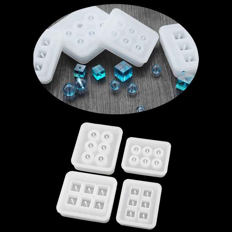 Jewelry Sphere Square body Pendant Casting Mold Tools Silicone Resin Craft DIY