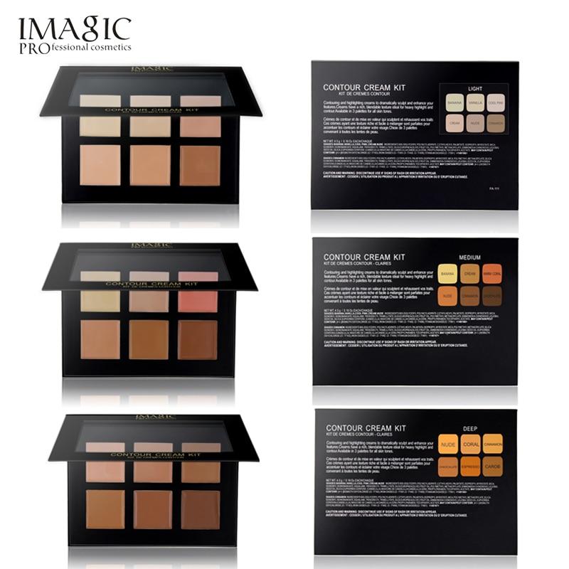 IMAGIC Cream Contour Palette Kit Pro 6 Colors Concealer Makeup Palette Concealer Face Primer for all skin types in Concealer from Beauty Health