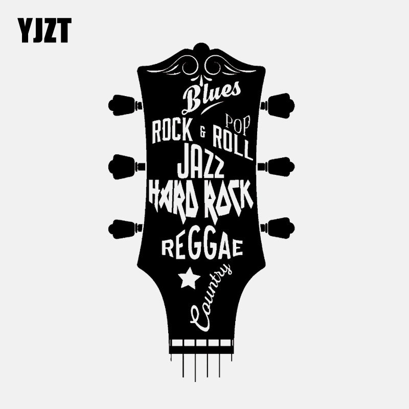 7.6CM*12.1CM Heavy Metal Sticker Vinyl Decal Electric Bass Guitar Rock
