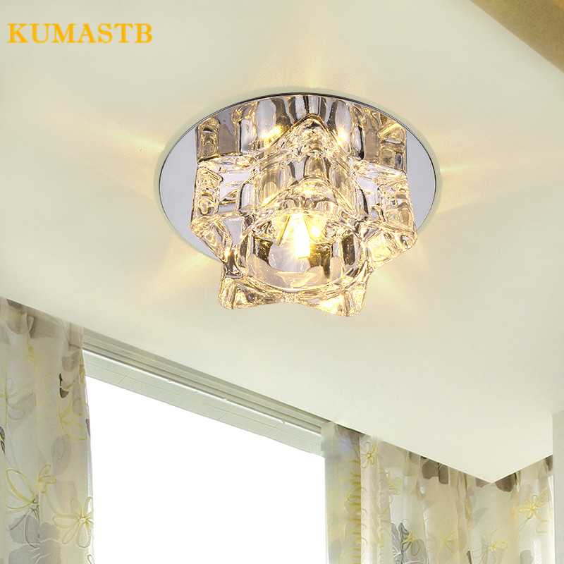 3W Led Lamp Modern Ceiling Light Home Fixtures Bedroom Stair Loft Porch Crystal Lampshade Indoor Lighting Decor AC110-220V mini porch corridor ceiling lamp for front balcony porch mini flush mount modern led home indoor lighting ac110 240v