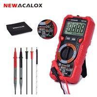 NEWACALOX NCV мультиметр портативный интеллектуальный Индикатор подсветка цифровой ЖК-дисплей AC/DC Напряжение Ток температура Транзистор тестер ...