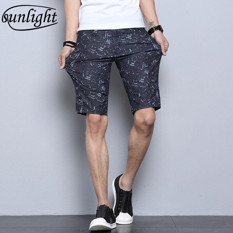 Для мужчин стрейч Джинсовые шорты мужские летние тонкие брюки Повседневное модные Молодежные Брюки 5 баллов Бриджи лето