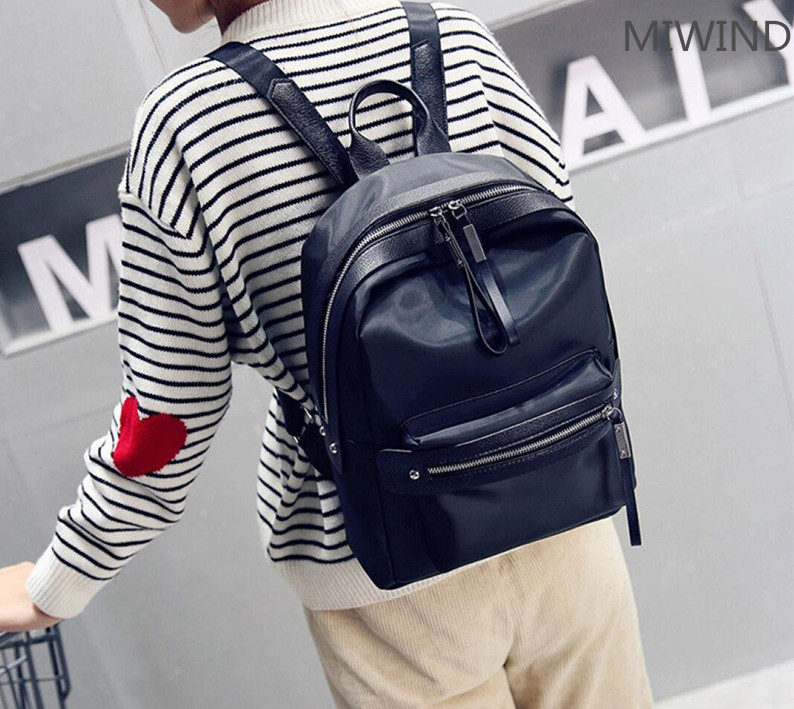 Wholesale Korean fashion PU zipper primary and secondary school students backpack five pieces 710 39 99usd 9 colours 2017 wholesale korean fashion pu zipper primary secondary school students backpack five pieces 2017121401