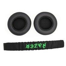 Fitma repuesto de cinta para la cabeza de plástico + almohadillas para las orejas, para Razer Kraken Pro 7,1 o Electra, auriculares para videojuegos