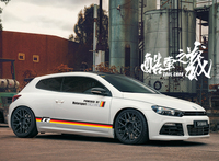 World Datong sport car sticker For Volkswagen Scirocco Body Side Skirt German flag style car stickers and decals auto sticker