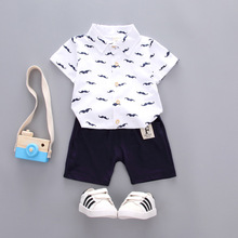 OKLADY 2019 Summer Clothes Set Baby Boy Children Casual Boys Short Sleeves Cotton Clothing Bebe Tee Shirt Pants