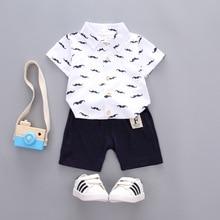 купить OKLADY 2019 Summer Clothes Set Baby Boy Children Casual Set Boys Short Sleeves Cotton Clothing Set Boy Baby Bebe Tee Shirt Pants по цене 847.36 рублей