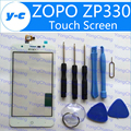 Zopo Zp330 Сенсорный Экран Белый Оригинал Дигитайзер Стеклянная Панель Замена Тяга Для ZOPO ZP330 Телефон В Наличии Бесплатная Доставка