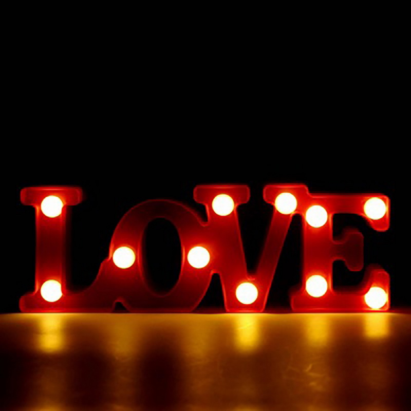 IVYSHION New Holiday Lighting LOVE LED Night Light Letters Hanging Lamp Stand Red Luminous Light Home Decoration Wedding Party great holiday light hotel wedding celebration decoration 3 6m red led lamp h276