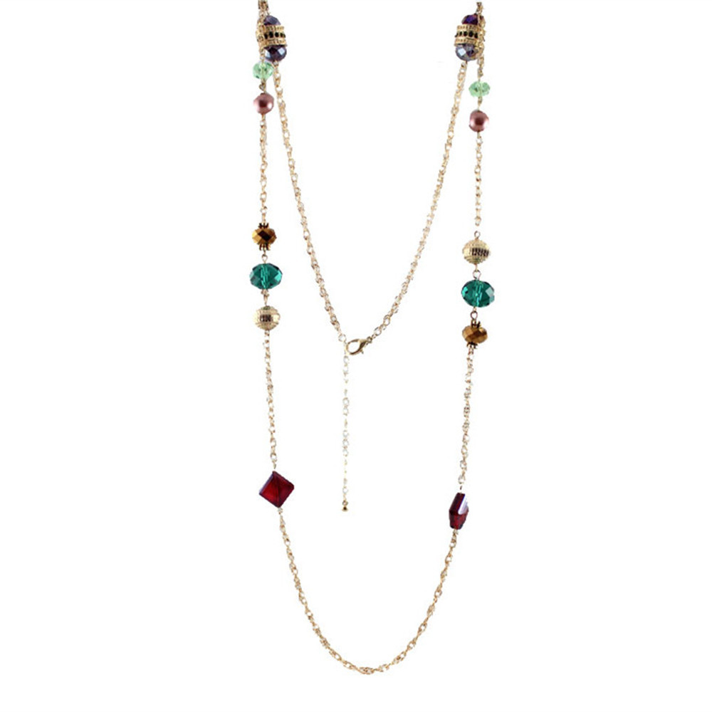 Exotic fashion jewelry - European And American Trade Exotic Jewelry Crystal Glass Bead Earrings Necklace Set China Mainland