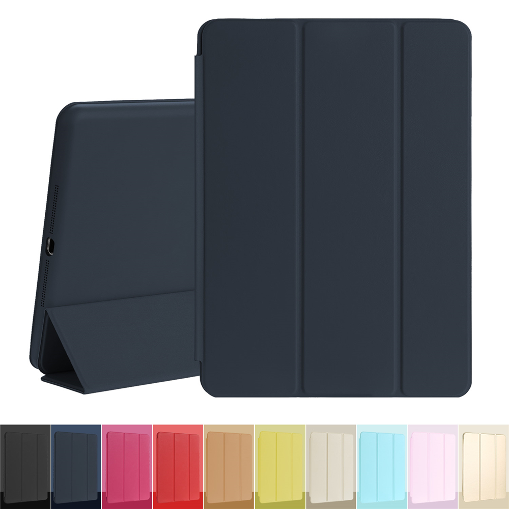 Tablet Case Magnetic Leather Trifold Smart Cover for Apple iPad Air 1st Generation with Rubberized Back Case Auto sleep Wake surehin nice smart leather case for apple ipad pro 12 9 cover case sleeve fit 1 2g 2015 2017 year thin magnetic transparent back