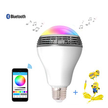 2016 newest play bulb smart LED blub light wireless Bluetooth speaker 110V – 240VE27 3w lamp audio for Android ISO iPhone iPad