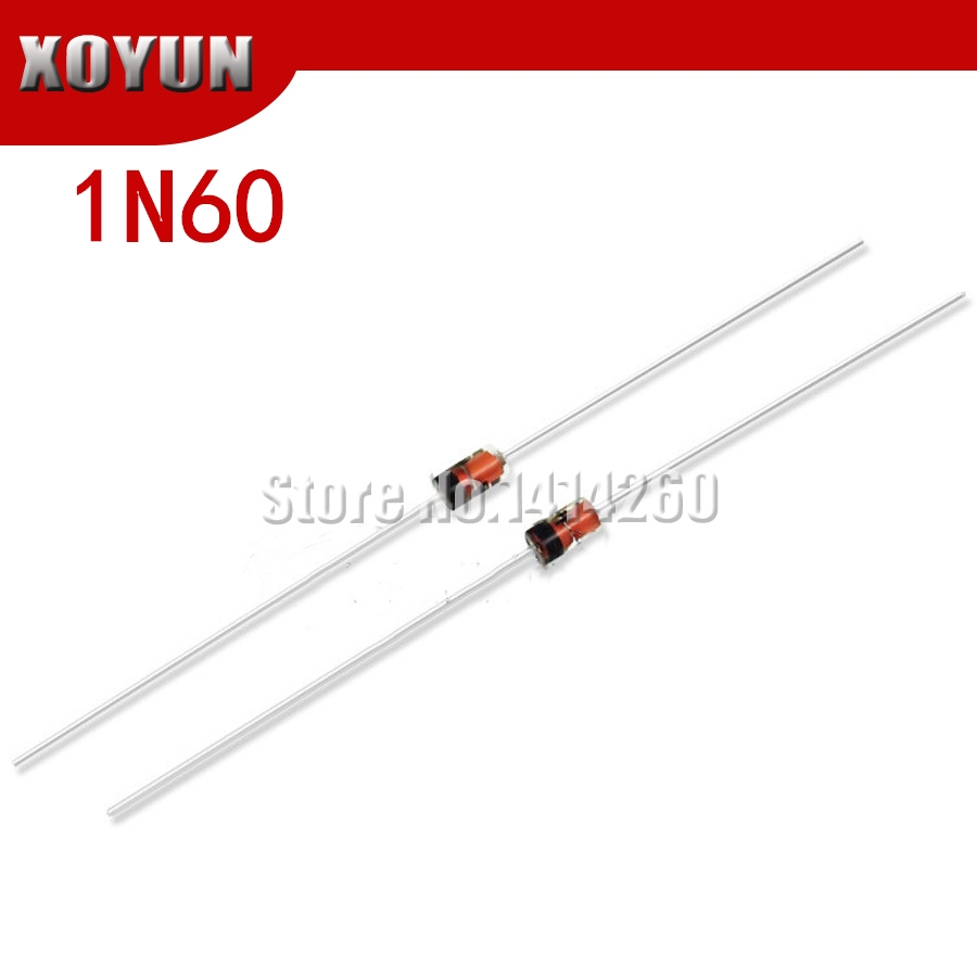 50PCS 1N60P  SCHOTTKY DIODE 45V 30ma  do-35 NEW FREE SHIPPING
