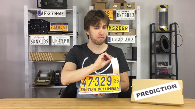 LICENSE PLATE PREDICTION By Martin Andersen ,Magic Tricks