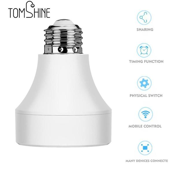 LED Wifi Remote Control Lamp Holder Wireless Smart Light Bulb Socket Cap  Switch For Lamps Bulbs