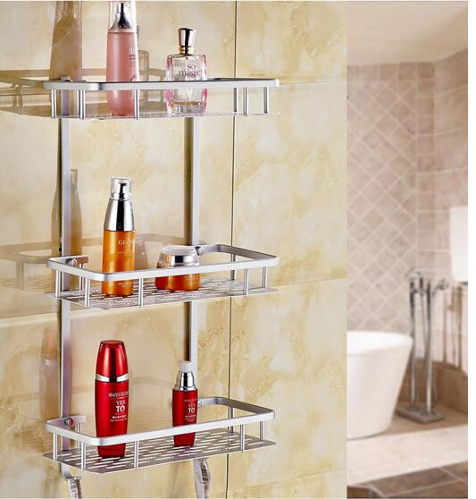 Bathroom rack. Three - storey wall hanging space aluminum. Punch three - tier shelving.. a1 hotel bathroom washbasin wall hanging solid thickening rack space aluminum wall hanging storage rack wx7201648