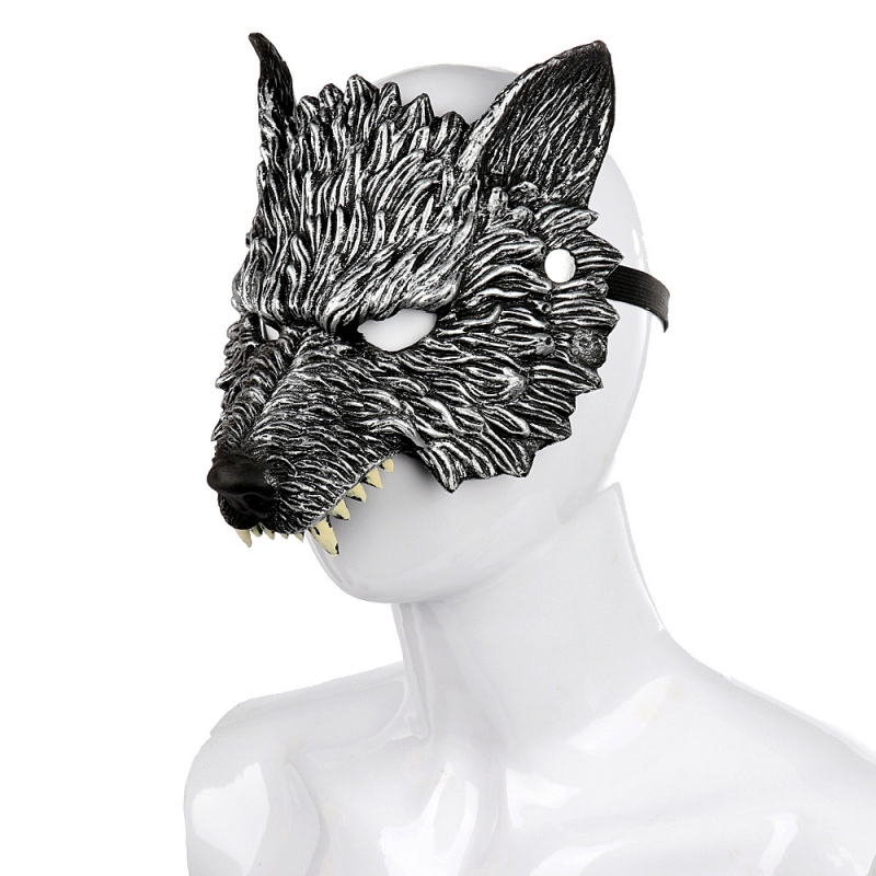 Halloween 3D Wolf Mask Party Masks Cosplay Horror Wolf Masque Halloween Party Decoration Accessories