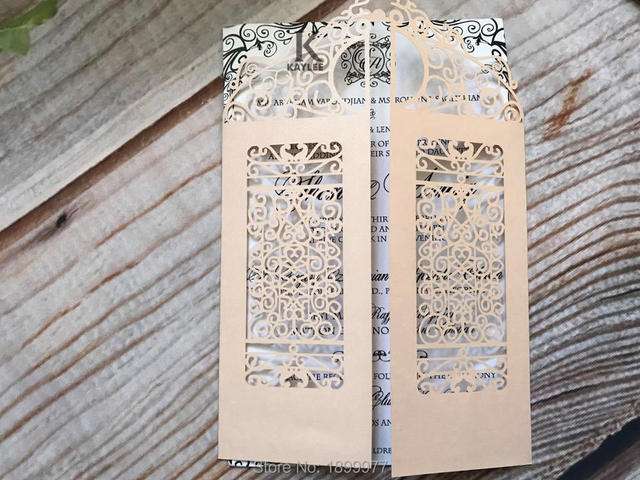 Claasic Carved Gate Design Wedding Engagement Invitation Card