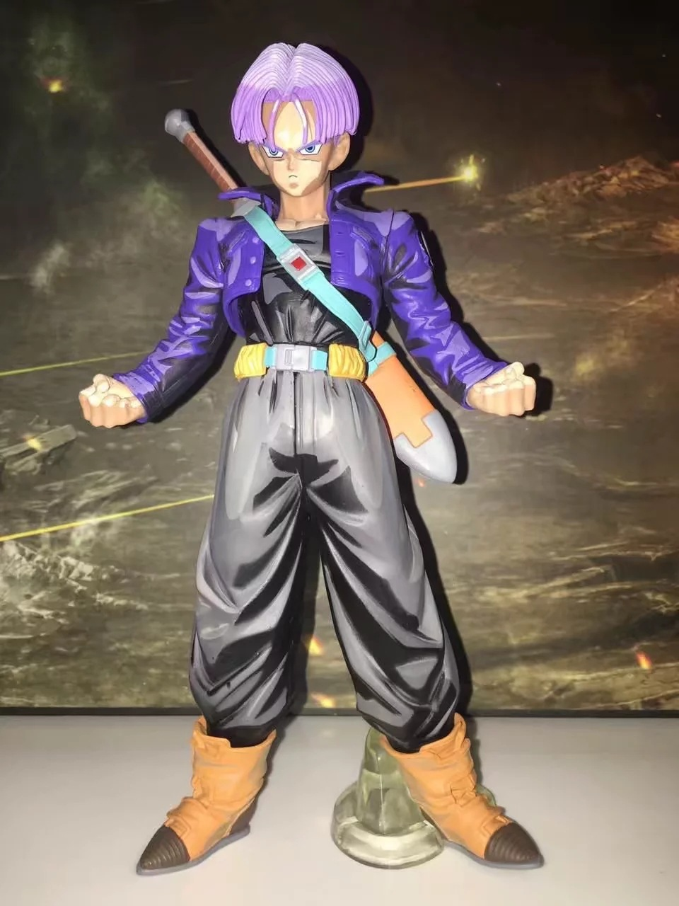Anime Dragon Ball Z MSP Master Stars Piece Super Saiyan Trunks Manga Ver. PVC Action Figure Collectible Model Toys Doll 25cm dragon ball z black vegeta trunks pvc action figure collectible model toy super big size 44cm 40cm