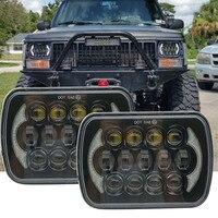 "LEVOU 5 ""X 7"" POLEGADAS LED Farol Substituição Para Jeep Cherokee XJ Caminhões IP67 85 W LED Projector farol Alto/Baixo feixe DRL|projector headlight|led projector headlightled headlight 7 inch -"