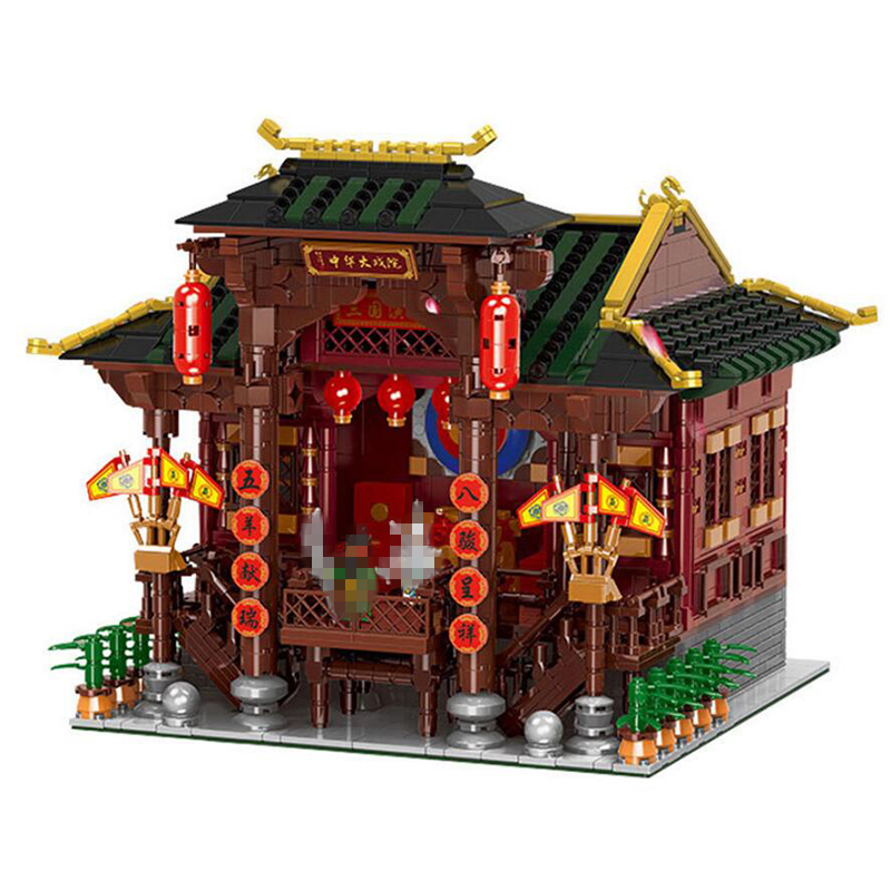 01020 Street View Series 3820Pcs Chinese Building The Chinese Theater Set Building Blocks Bricks Toys Model architecture toy city architecture mini street scene view reims cathedral police headquarters library fire departmen building blocks sets toys