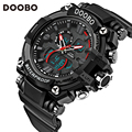 DOOBO Brand Men's Quartz Hour LED Digital Sports Watches Men Army Military Wrist Watch Male Dual Display Clock Relogio Masculino