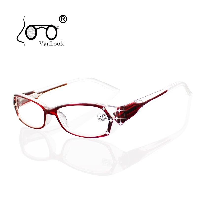 Strass Lecture Lunettes Femmes Lunettes de Lectura Montures de lunettes De Mode Lunettes + 50 + 75 100 125 150 175 200 250 300 350 400