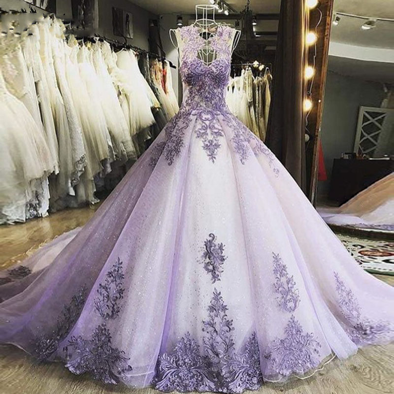 New Designs Lilac   Evening     Dress   Long Robe De Soiree Organza   Evening   Gowns vestido de festa longo Lace Applique Formal   Dresses