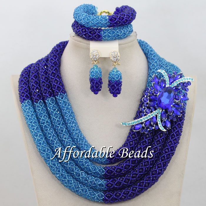 African Gold Jewelry Set New Nigerian Wedding Necklace Best Design Handmade Item NCD083African Gold Jewelry Set New Nigerian Wedding Necklace Best Design Handmade Item NCD083