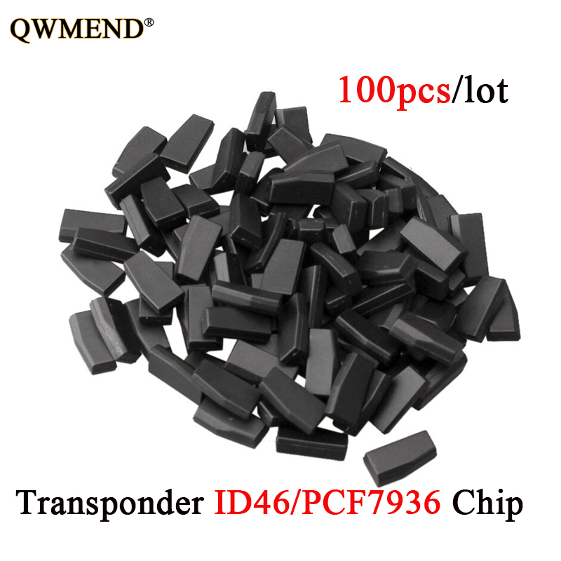 QWMEND 100Pcs lot Car Key Chips ID46 For Honda Hyundai Kia Nissan Citroen Peugeot Transponder PCF7936