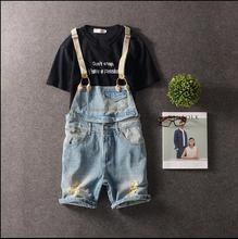 M-3XL!!!  2017   Han edition leisure men's clothing Do old water to wash overalls Hole in the cowboy pants