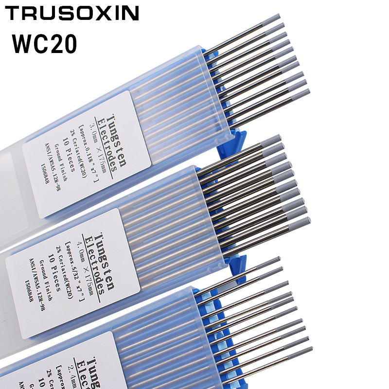 10 pcs Gray Color Code 175MM Cerium Tungsten Electrode Head Tungsten Needle Wire for the TIG WSME SUPER Welding Machine in Welding Nozzles from Tools