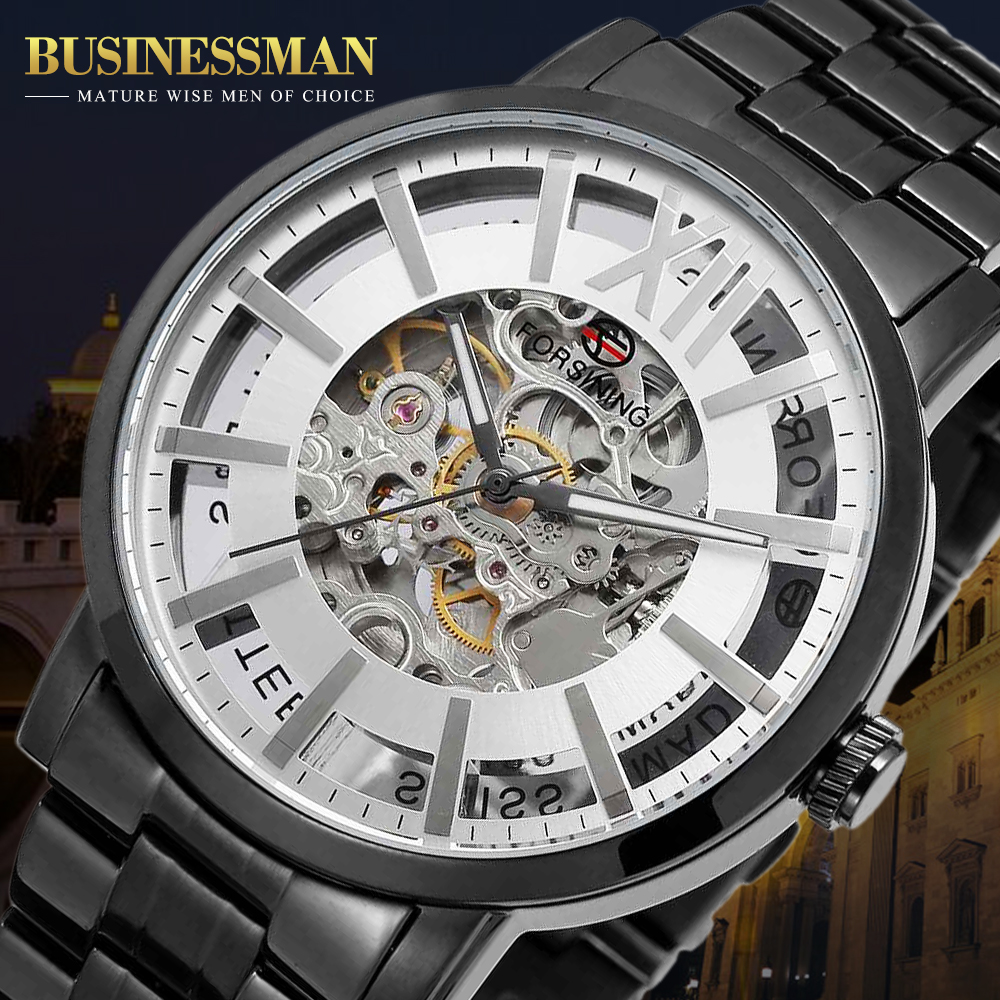 Forsining Brand Automatic Watch Men Waterproof Fashion Casual Business Watch Men Steel Wristwatch цена