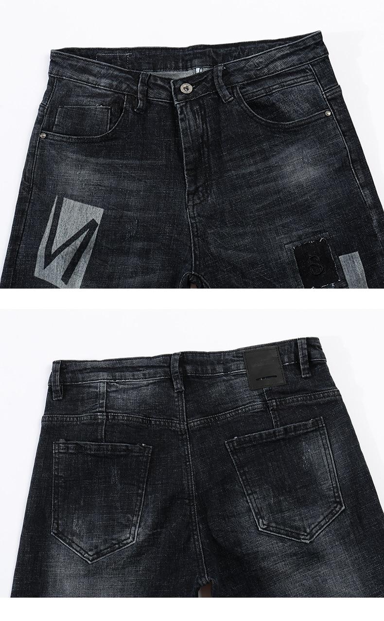 KSTUN Skinny Jeans Men Winter Jeans Dark Blue Ripped Biker Jeans Stretch Hiphop Handsome Cool Denim Trousers Damaged Man Jeans 13