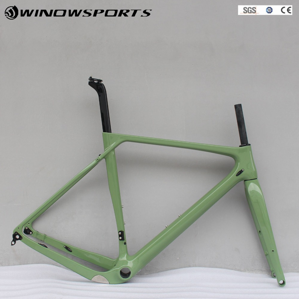 2018 Disc Carbon Gravel Bike Frame Full Carbon Bicycle Frame Road Bike Cyclocross Frame 140mm disc brake