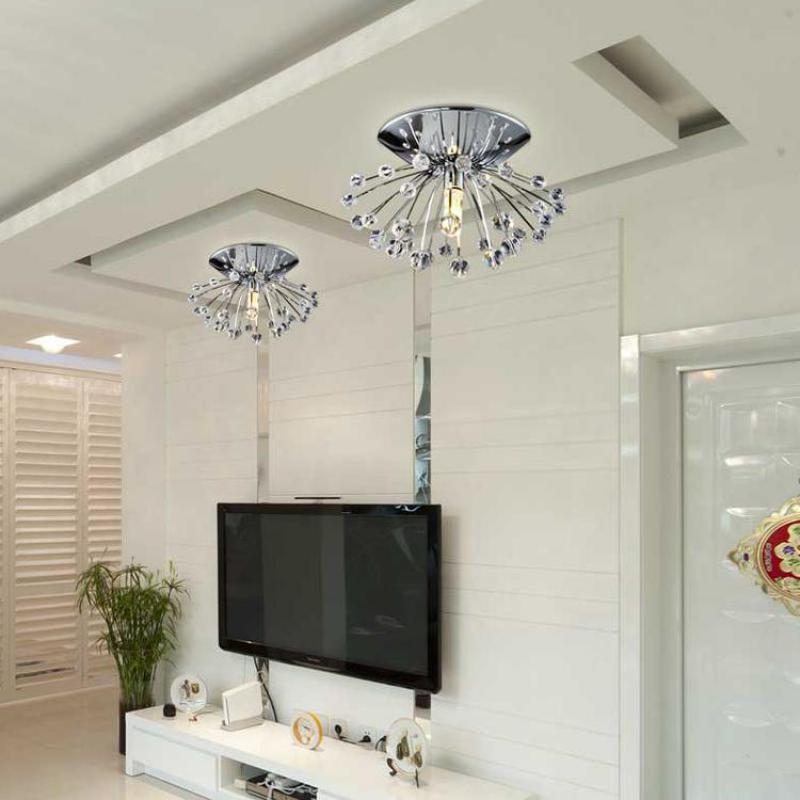 Mini Modern Crystal Chandelier Light Fixture Dia10*H7cm Mini Lustre Cristal Led Lamp For Home Kids Room Led Ceiling Chandelier