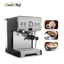 ITOP Household Semi-automatic Espresso Coffee Maker Machine 15Bar Cappuccino Latte Milk Foam 220V For Cafe Shop